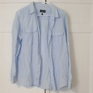Large express button down shirt.